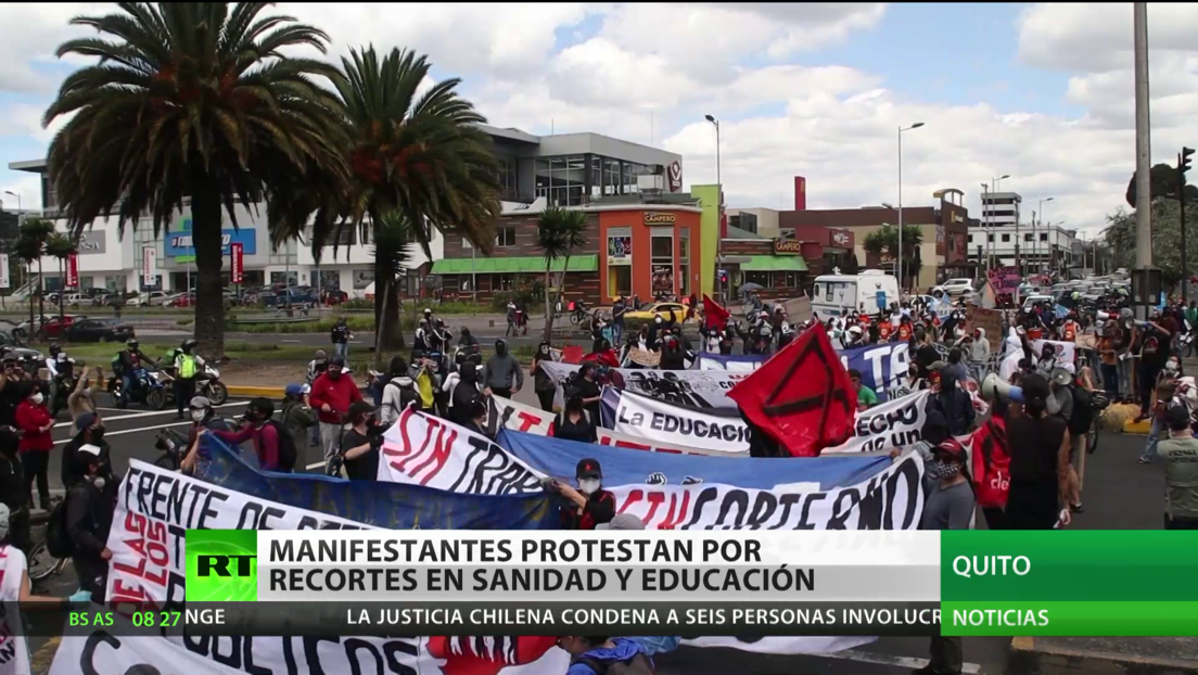 Ecuador: Manifestantes protestan en la capital por los recortes en sanidad y educación
