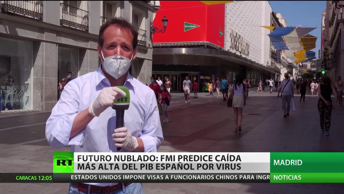 Futuro nublado: El FMI predice la mayor caída del PIB de España desde la Guerra Civil por el covid-19