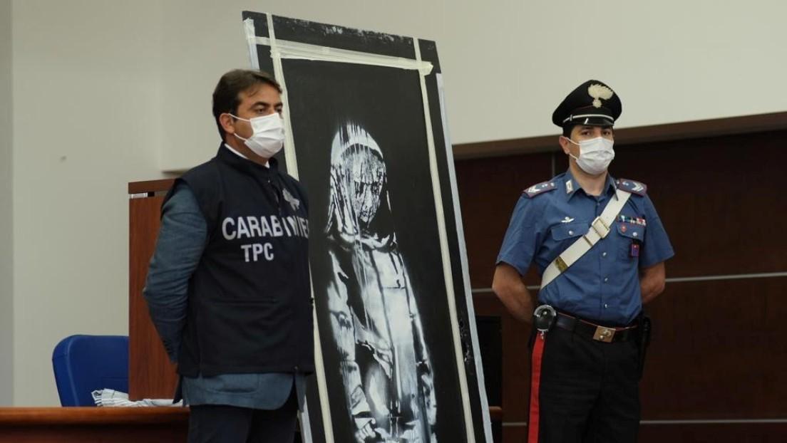 Detienen en Francia a seis personas vinculadas al robo de una obra de Banksy que rinde homenaje a las víctimas del teatro Bataclan