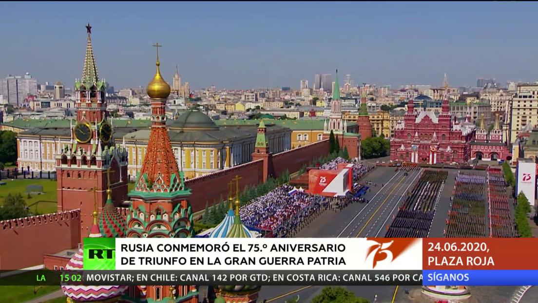 Rusia celebra un desfile para conmemorar el 75º aniversario de la Gran Guerra Patria