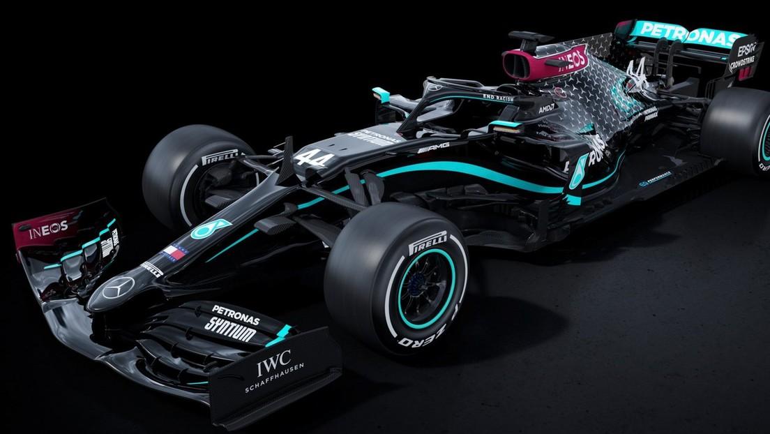 Mercedes vuelve a la Fórmula Uno con los bólidos pintados de negro en su lucha contra el racismo