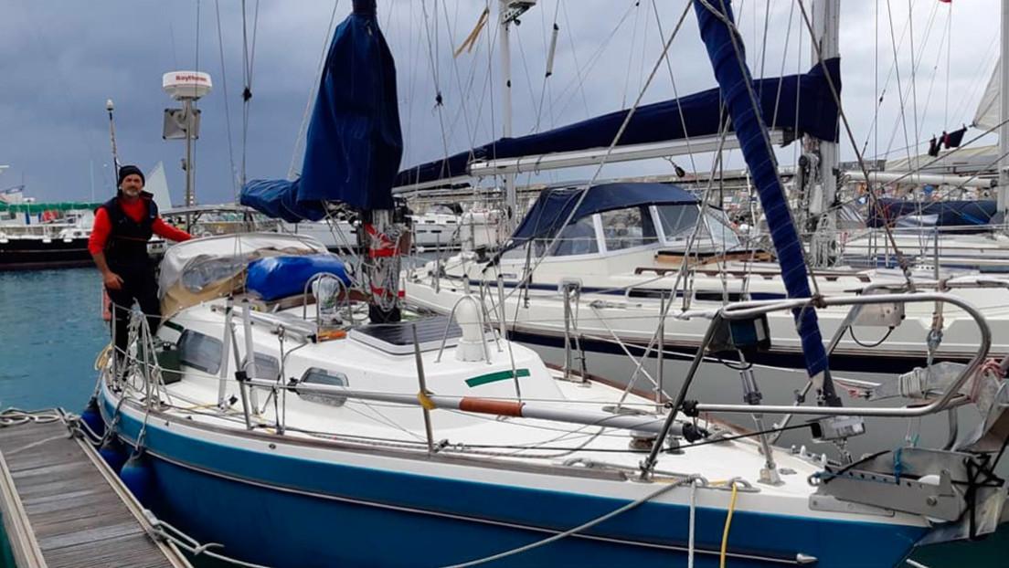 """""""La fe cruza océanos"""": Un argentino navega en velero durante 85 días por el Atlántico para reencontrarse con su padre"""