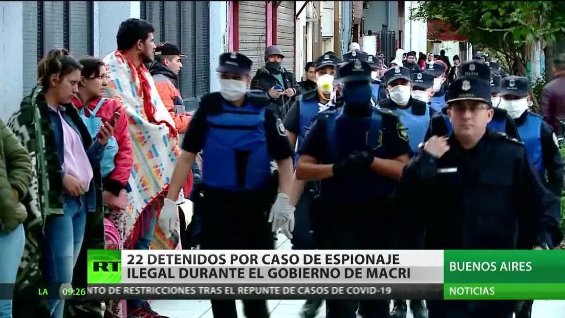 22 detenidos por un caso de espionaje ilegal durante el Gobierno de Macri en Argentina