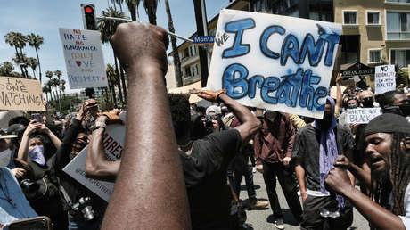 VIDEOS: Saquean un camión de Amazon cerca de Los Ángeles en medio de los disturbios