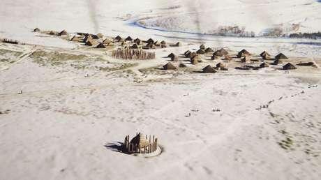 Hallan una monumental estructura de pozos neolíticos dispuestos en círculo cerca de Stonehenge