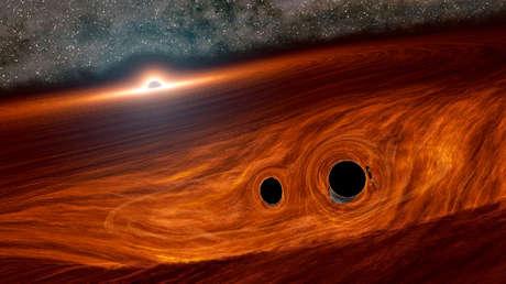 Registran por primera vez el destello de luz emitido por la colisión de dos agujeros negros
