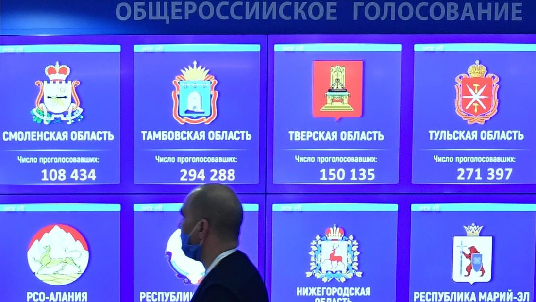 La mayoría de los rusos apoya las enmiendas a la Constitución