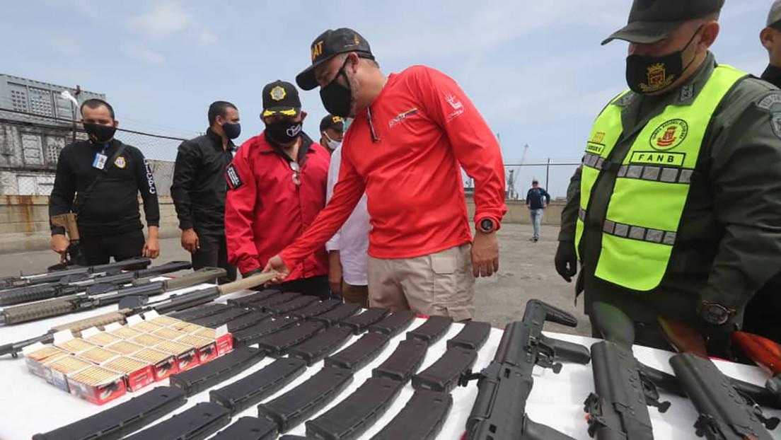 Autoridades venezolanas incautan armas de guerra provenientes de EE.UU. por vía marítima