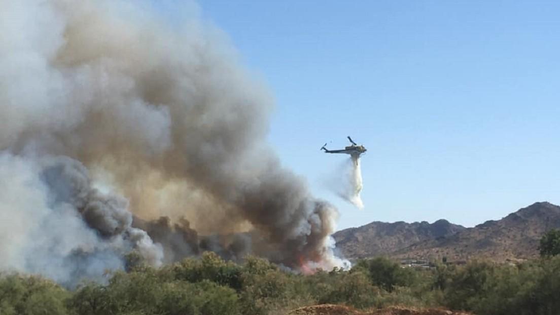 VIDEO: Un impresionante 'time-lapse' muestra cómo se extiende un incendio forestal en EE.UU.