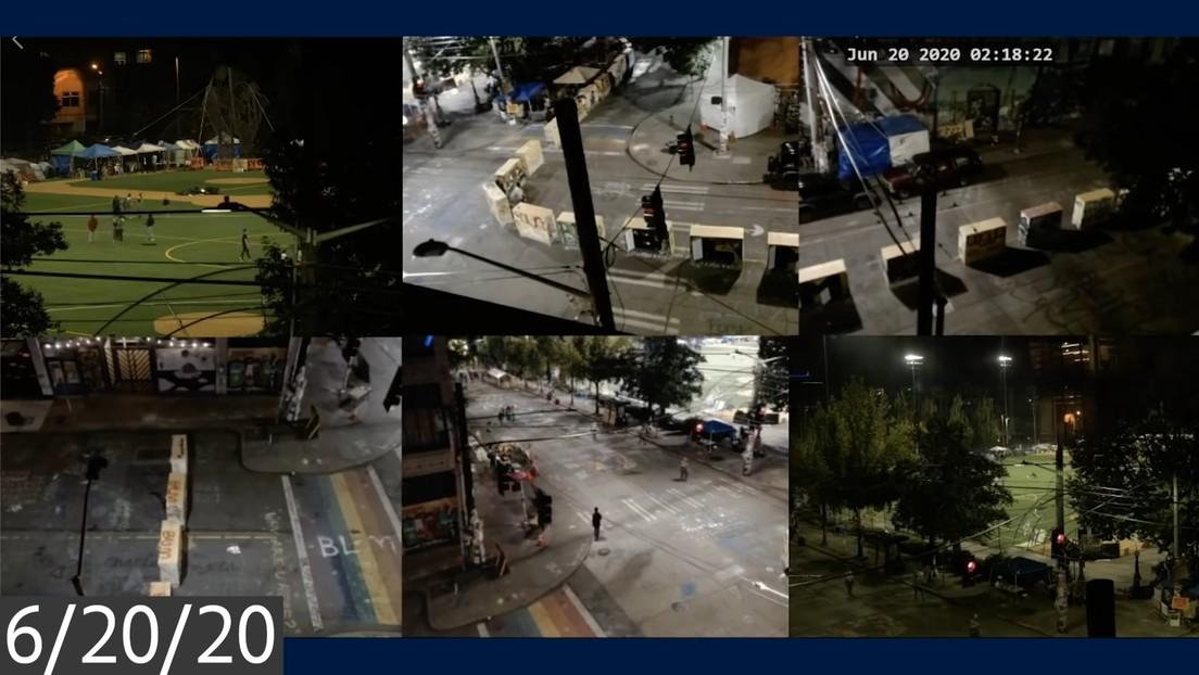 La Policía publica un video que muestra choques y tiroteos en la 'zona autónoma' de Seattle