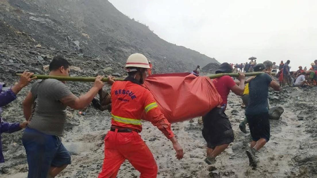 VIDEO: El momento del deslizamiento de tierra en una mina que sepultó a más de un centenar de personas en Birmania