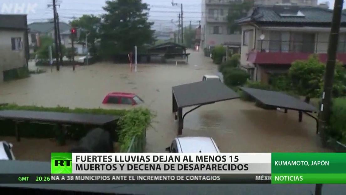 Fuertes lluvias dejan al menos 15 muertos y decenas de desaparecidos en Japón