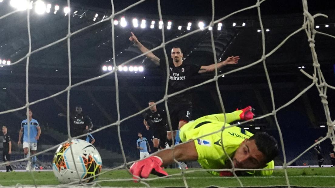 VIDEO: Ibrahimovic se reencuentra con el gol tras meses de cuarentena en la aplastante victoria del Milan sobre la Lazio