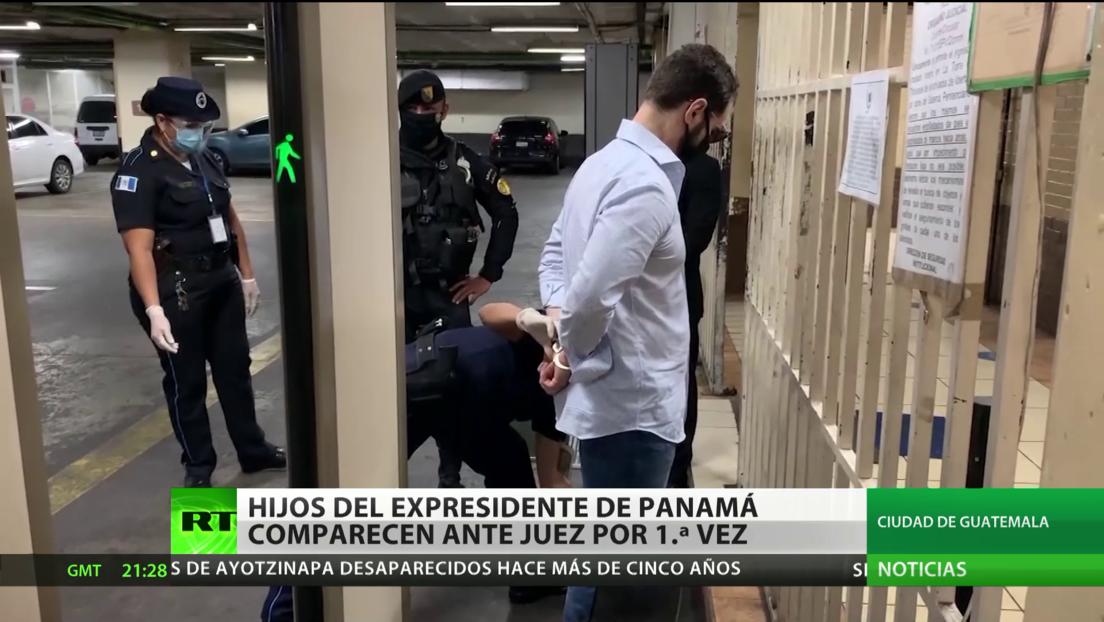 Hijos del expresidente de Panamá comparecen ante juez por primera vez