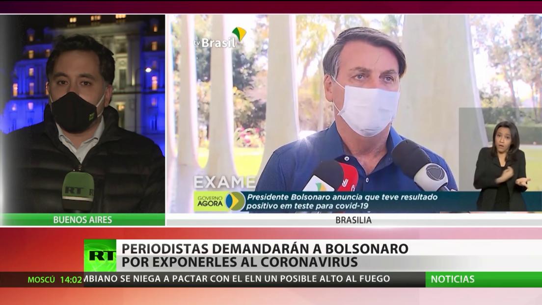 Periodistas brasileños amenazan con demandar a Bolsonaro por exponerles al coronavirus