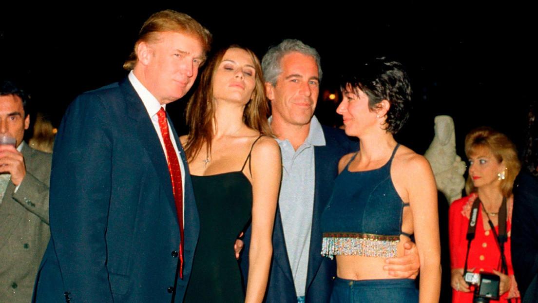 """Fox news recorta a Trump """"por error"""" de una foto donde aparece junto a Jeffrey Epstein (pero deja a Melania)"""