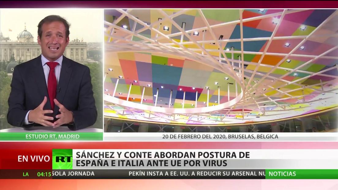 Sánchez y Conte abordan la postura de España e Italia ante la UE por la crisis del coronavirus