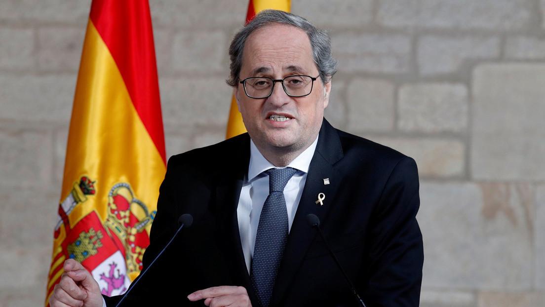"""""""La culpa es de Madrid, por eso queremos ser independientes"""": Torra ataca al Gobierno de España en pleno rebrote de casos de coronavirus en Cataluña"""