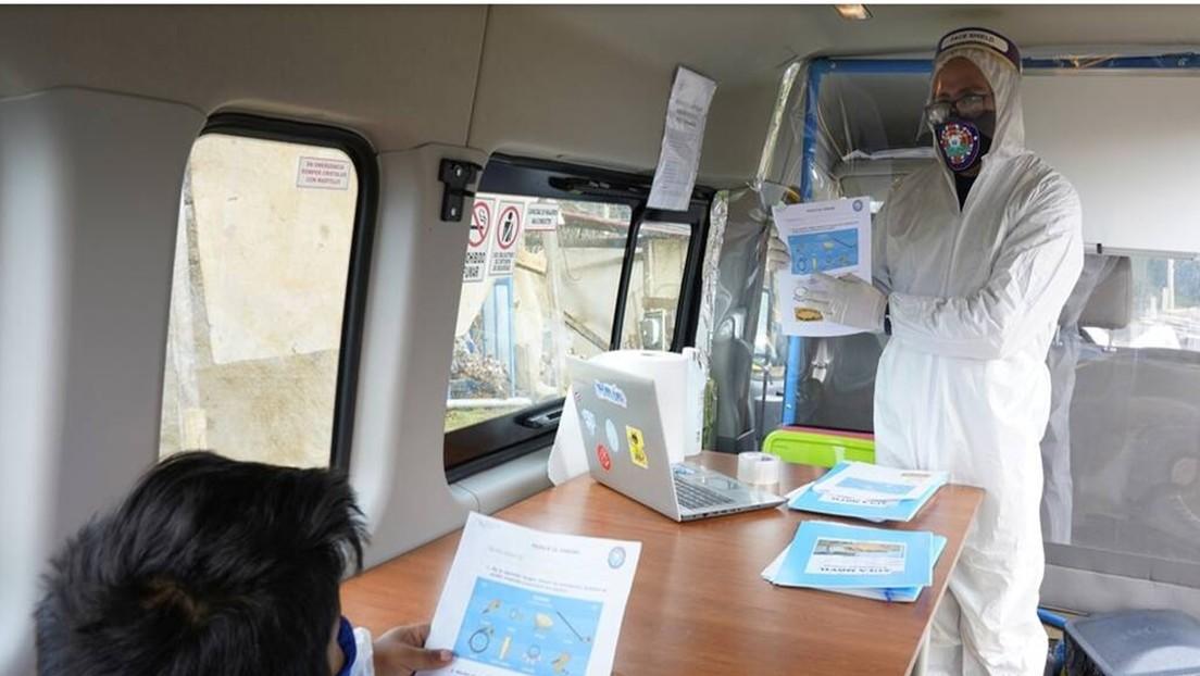 'Aula rodante': el innovador proyecto de una escuela en Chile para democratizar la enseñanza en las zonas rurales durante la pandemia