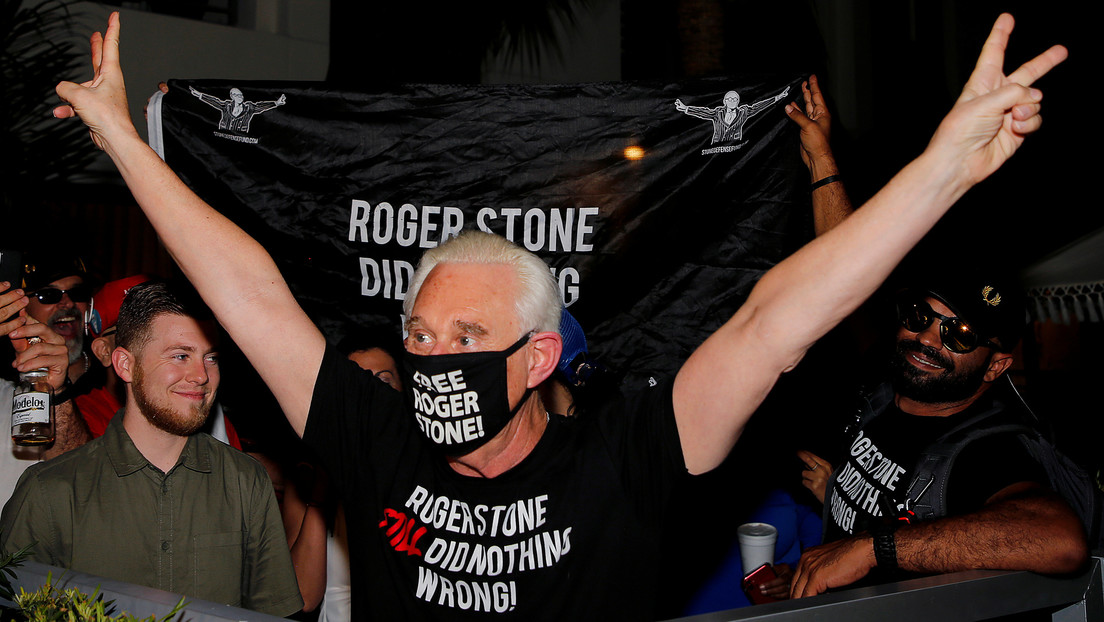 Trump conmuta la sentencia de su aliado Roger Stone, condenado a prisión por el caso sobre los lazos con Rusia
