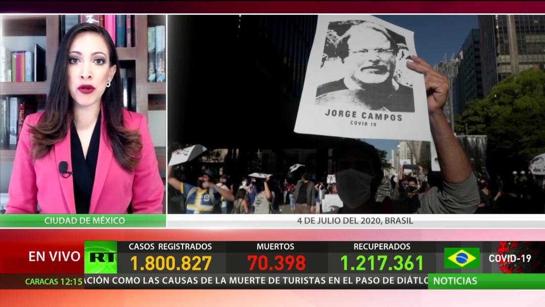 En Brasil se realizan manifestaciones por la gestión gubernamental de la pandemia