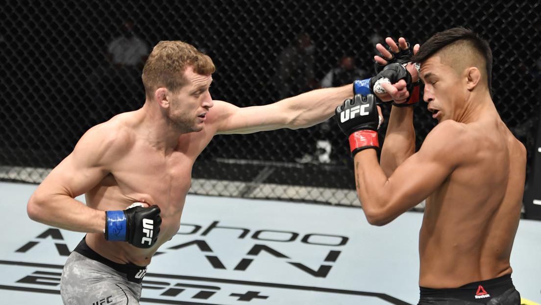 VIDEO: El 'Peligroso' Davey Grant gana con un contundente nocaut la primera pelea de 'La isla de la lucha' de la UFC