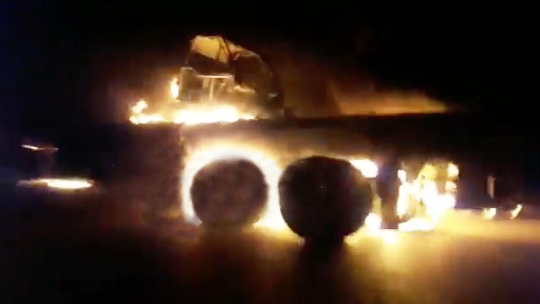 Reportan un ataque contra un convoy con suministros para una base de EE.UU. en Irak