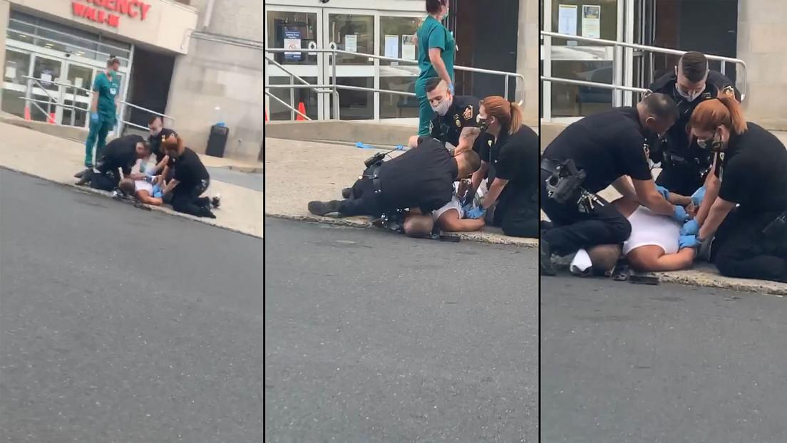 Nuevo vídeo de un policía arrodillado sobre el cuello de un hombre provoca protestas en Pensilvania
