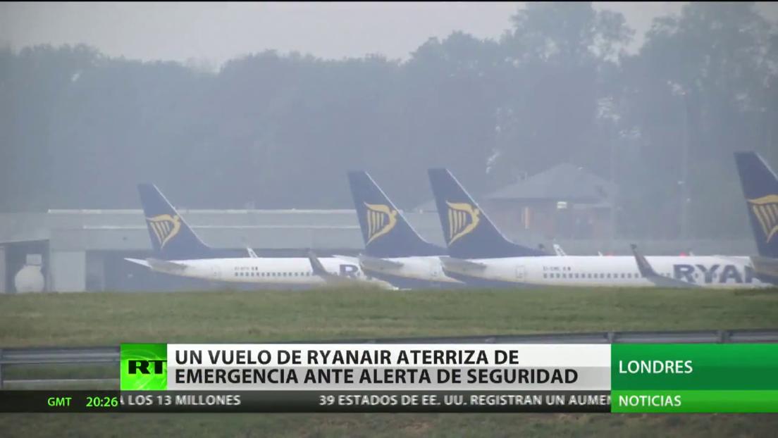Un vuelo de Ryanair aterriza de emergencia en Londres ante un alerta de seguridad