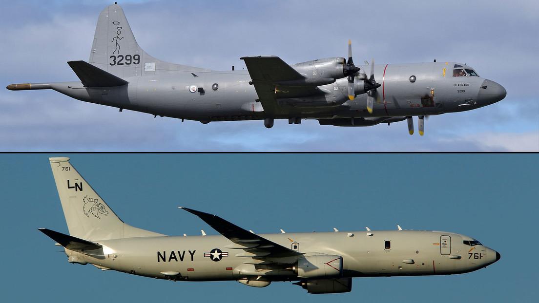 Cazas rusos despegan para interceptar aviones de reconocimiento de la OTAN sobre el mar Negro y el de Barents