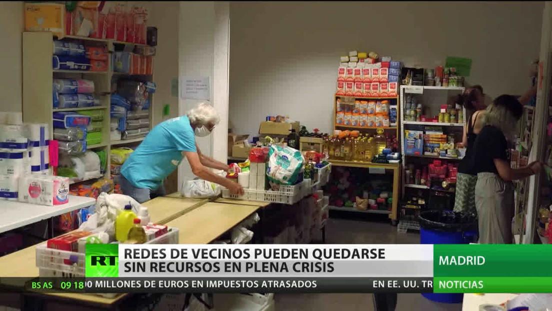 España: Redes de vecinos podrían quedarse sin recursos en plena crisis del coronavirus
