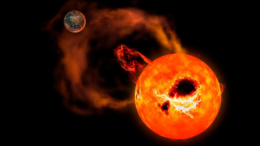 Observan una súper llamarada en una enana roja de la constelación de Leo