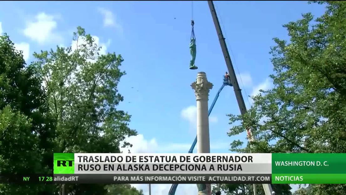 El traslado de la estatua de un gobernador ruso en Alaska decepciona a Rusia
