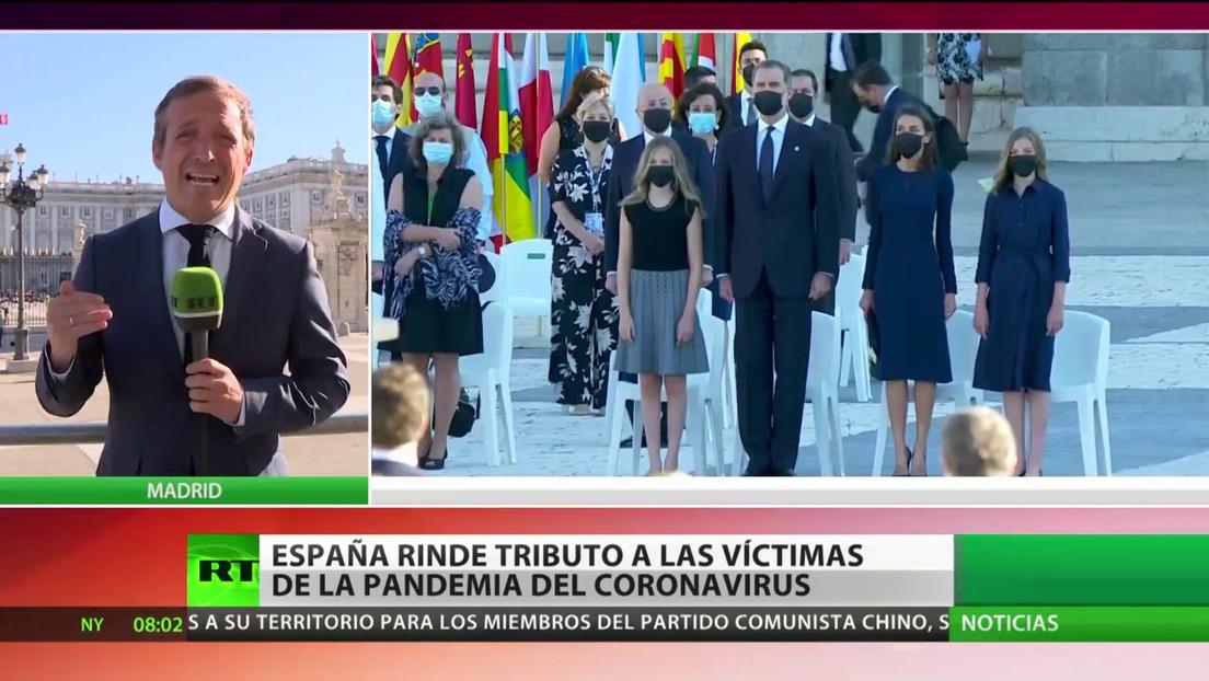 España rinde homenaje a las víctimas de la pandemia de covid-19
