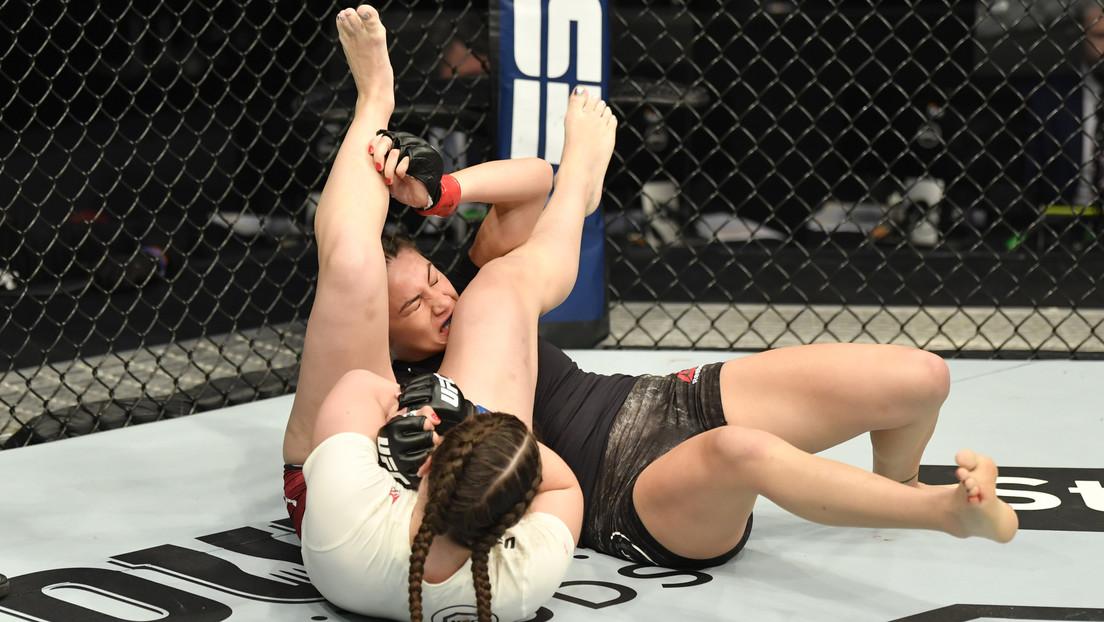 """""""Escuché como se rompía su brazo"""": Liana Jojua logra su primera victoria en la UFC (VIDEO)"""