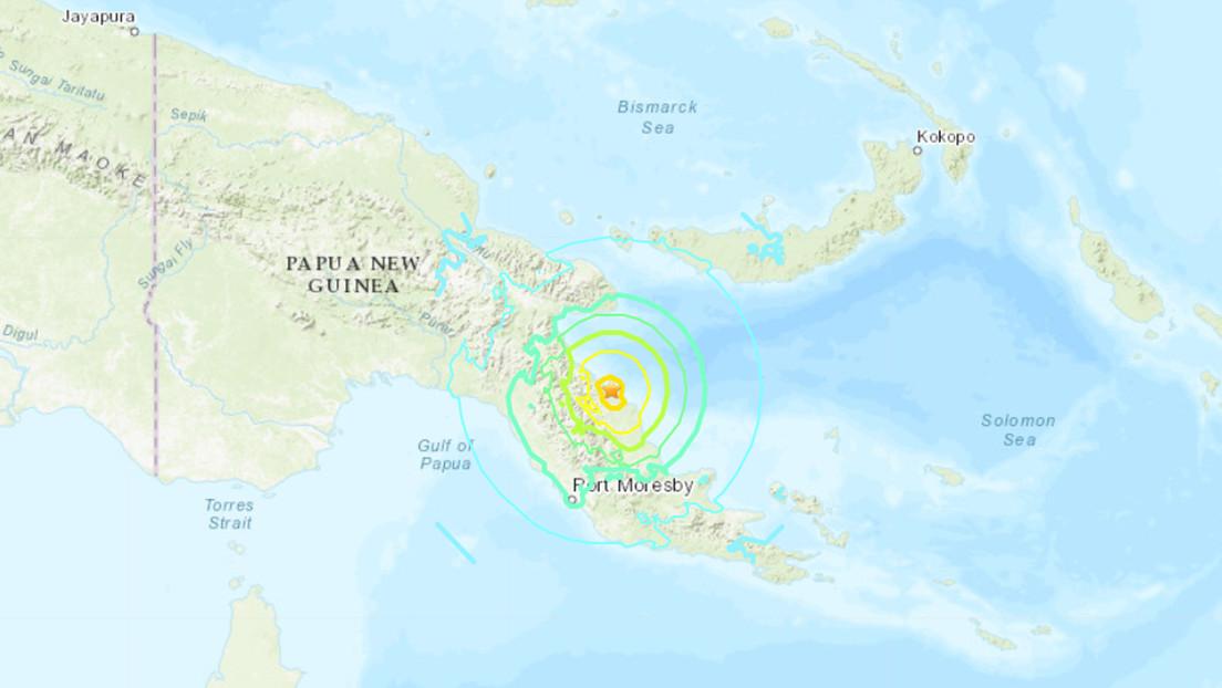 Se registra un terremoto de 7,0 frente a las costas de Papúa Nueva Guinea