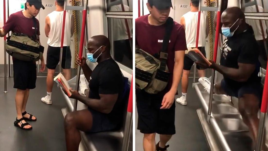 VIDEO: Intenta sentarse sin mascarilla al lado de un luchador de MMA en el metro y este reacciona de la manera menos esperada
