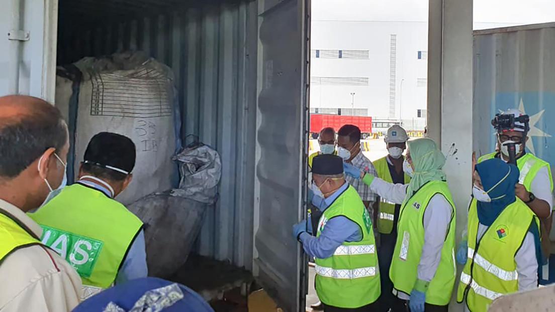 Encuentran la mayor partida de desechos tóxicos abandonados en la historia de Malasia