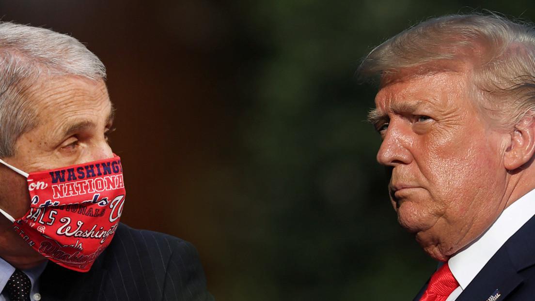 """""""Soy realista"""": Fauci responde a las acusaciones de """"alarmismo"""" que le lanzó Trump"""