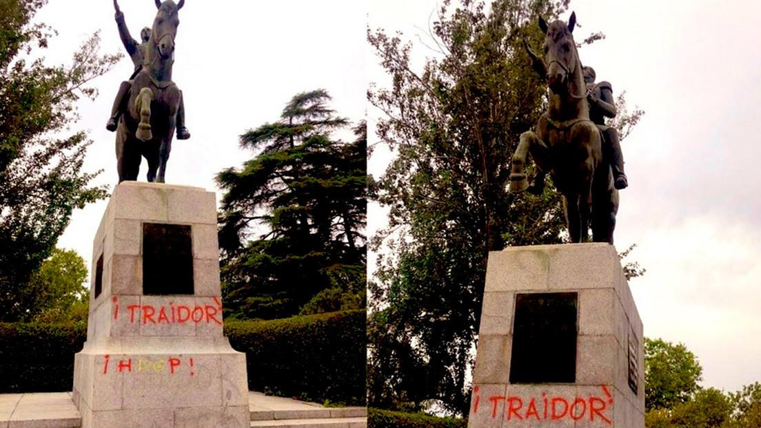 Gobierno de Venezuela condena el acto vandálico contra la estatua del Libertador Simón Bolívar en Madrid