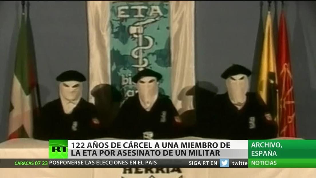 España: 122 años de cárcel para una exjefa de ETA por el asesinato de un militar