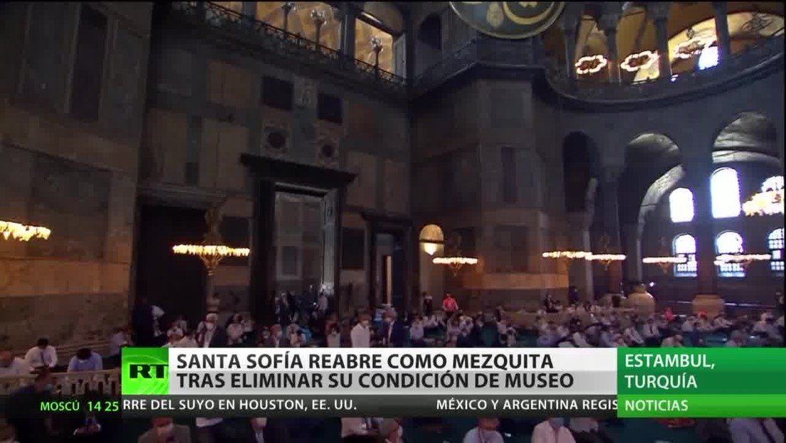 Santa Sofía de Estambul acoge su primer rezo musulmán