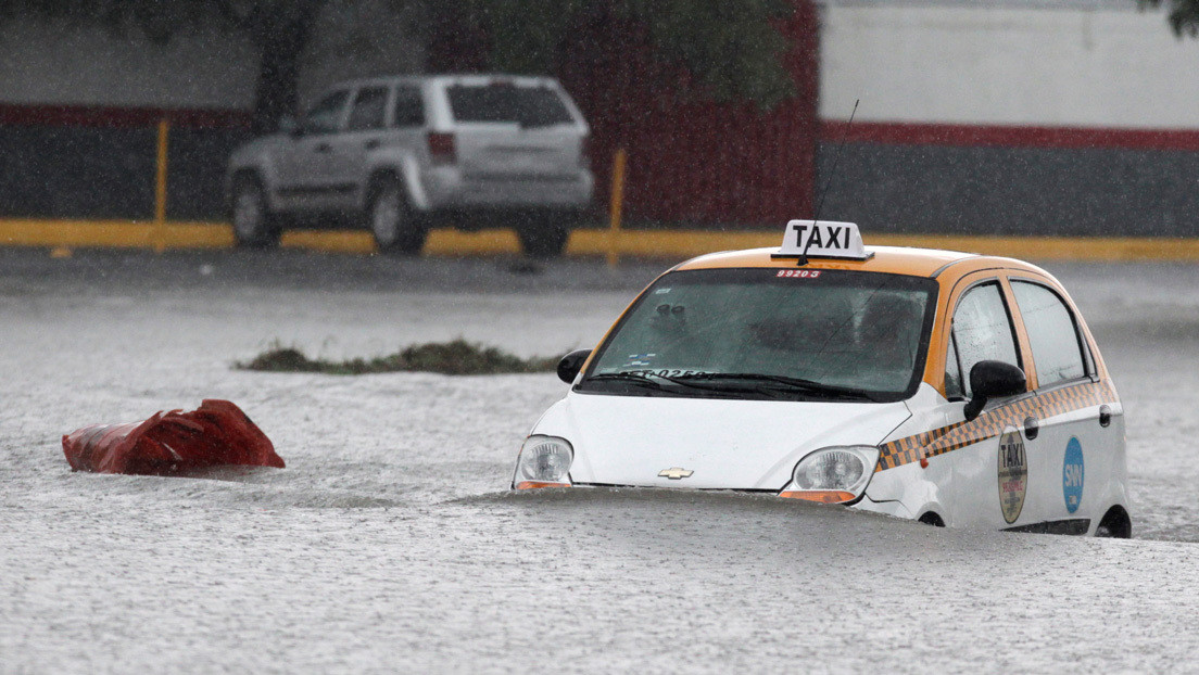 La tormenta tropical Hanna deja inundaciones y varias personas desaparecidas a su paso por el norte de México (VIDEO, FOTOS)