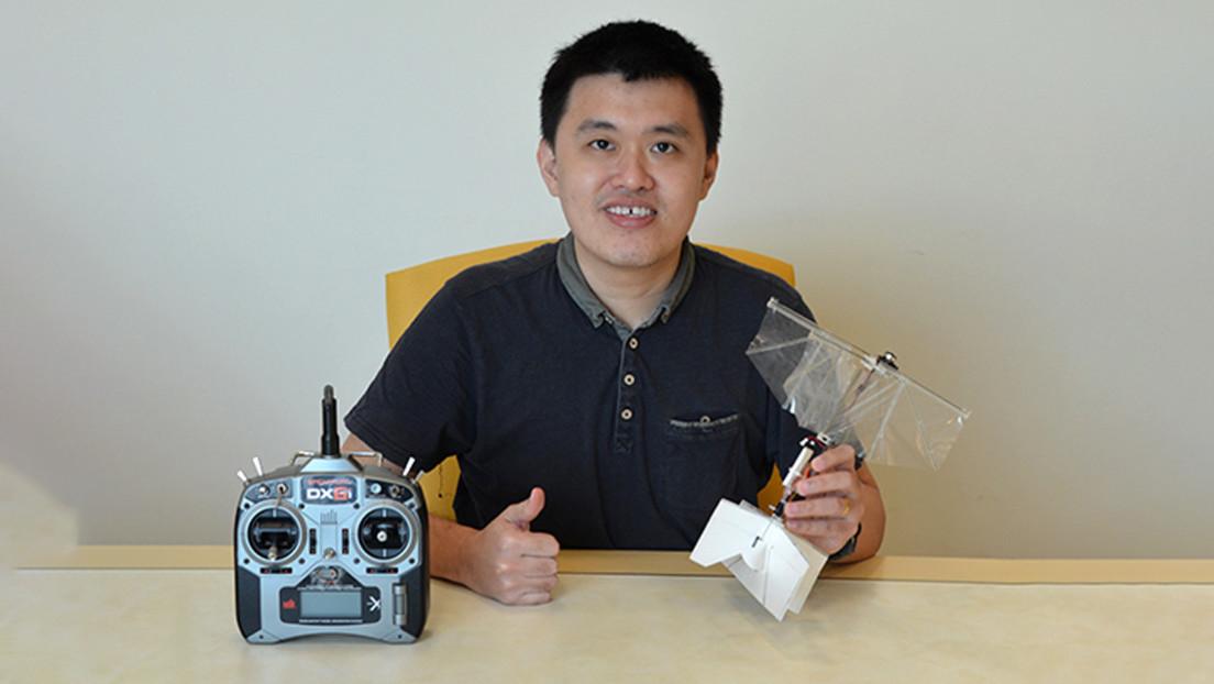 VIDEO: Desarrollan microdrones capaces de aletear como las aves