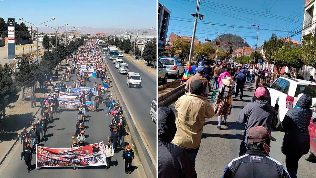 Marchas masivas en Bolivia: miles protestan contra postergación de las elecciones y exigen recuperar democracia thumbnail