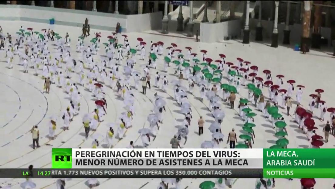 El coronavirus deja huella en la gran peregrinación anual a La Meca