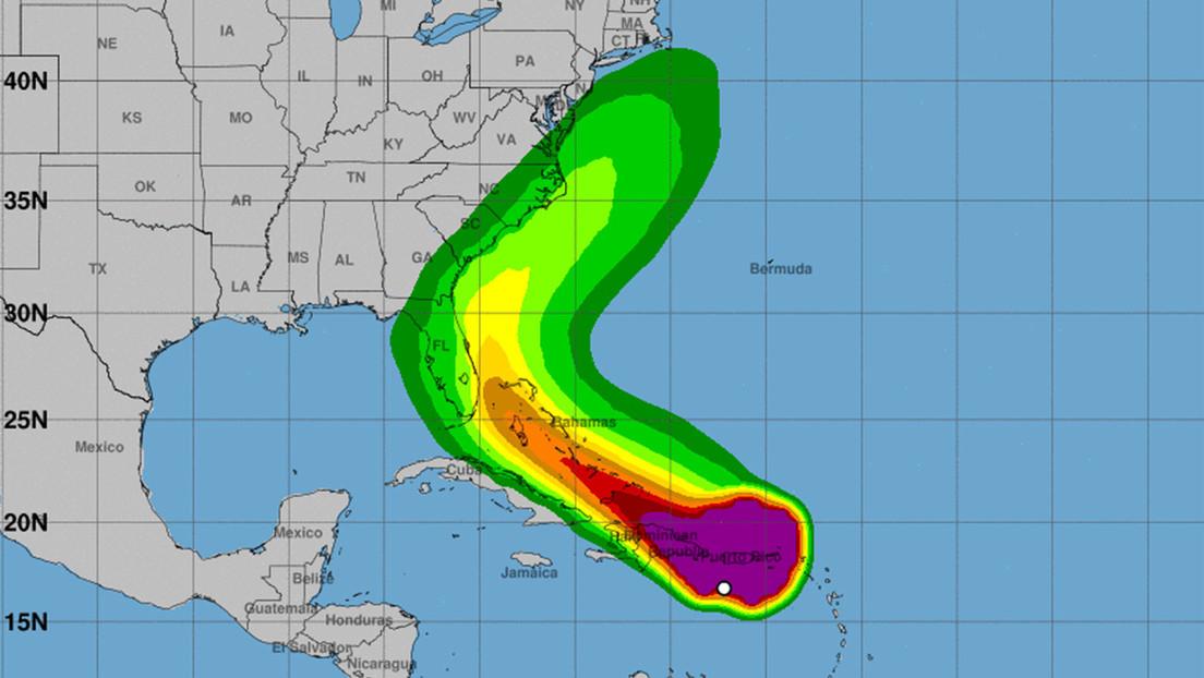 La tormenta tropical Isaías se dirige hacia Puerto Rico y República Dominicana con vientos sostenidos de 80 km/h