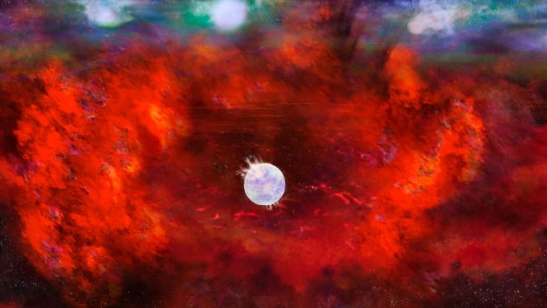 Reconocen una estrella de neutrones en el remanente de una supernova de una galaxia cercana