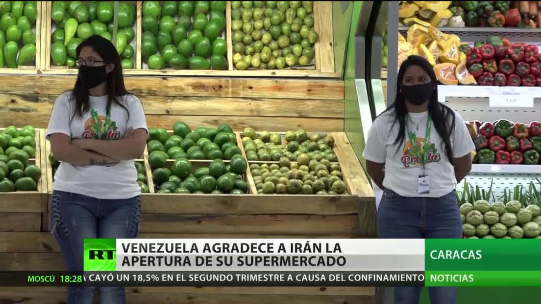 Caracas agradece a Teherán la apertura de su primer supermercado en suelo venezolano