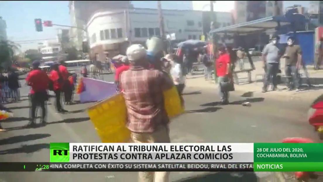 Ratifican al Tribunal Electoral las protestas contra el aplazamiento de comicios en Bolivia